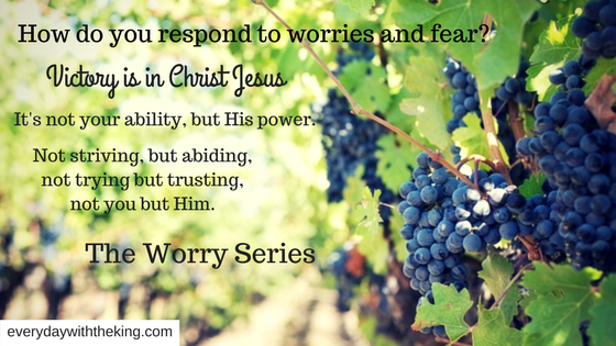 How do you respond to worries and fear_
