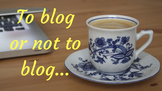 To blog or not to blog...