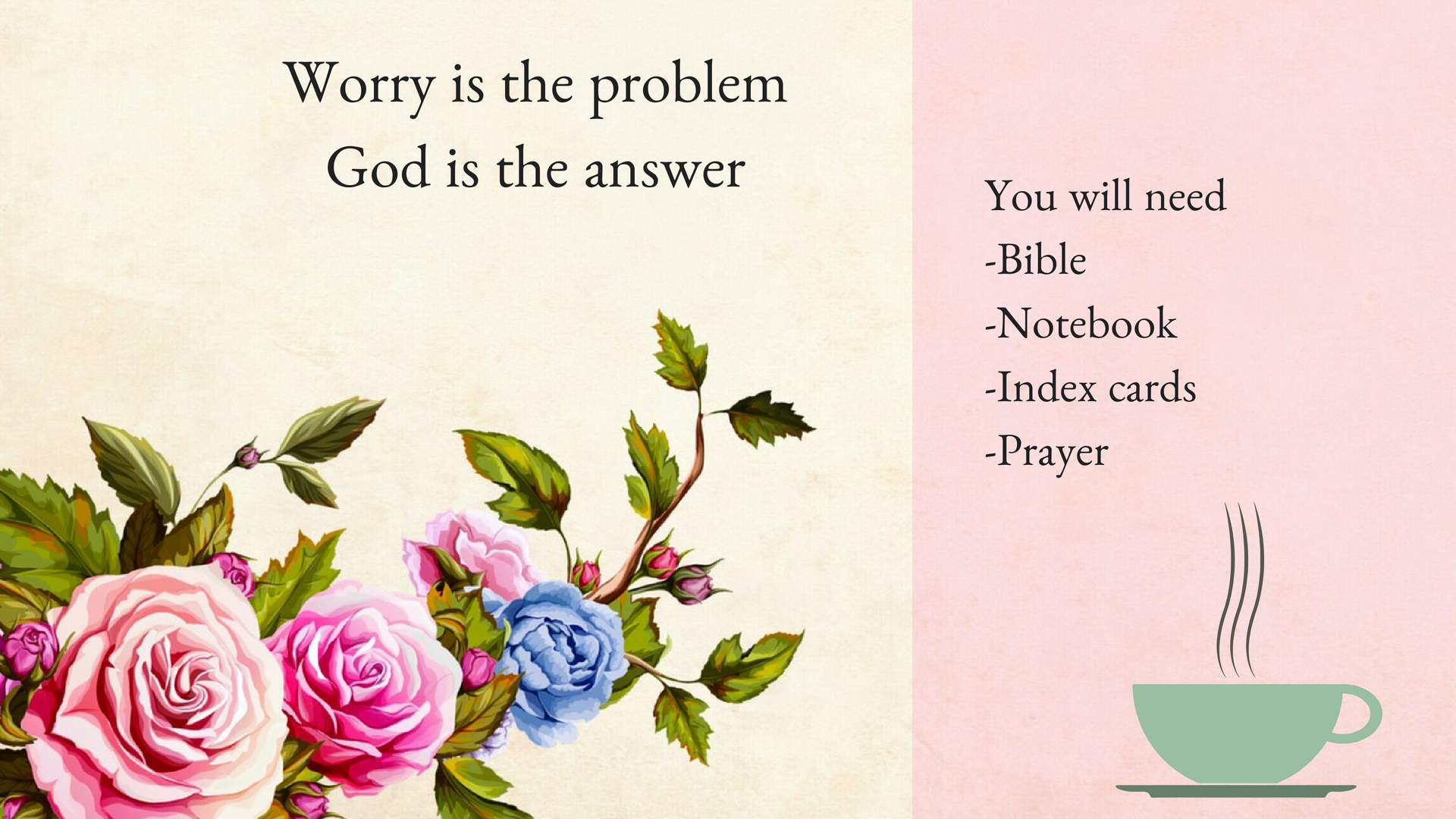 Worry is the problemGod is the answer.jpg