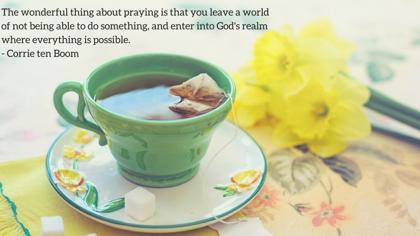 The wonderful thing about praying